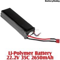 BatteryHobby (BH22.2V35C2650) Li-Polymer Battery 22.2V 35C 2650mAh
