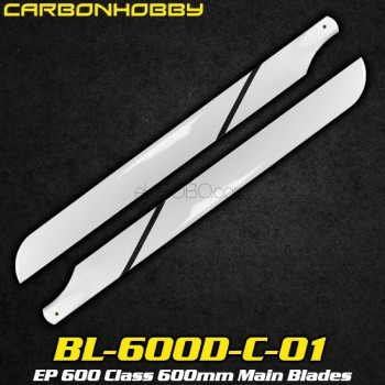 CarbonHobby (BL-600D-C-01) EP 600 Class 600mm Main BladesCopterX CX 600E PRO Parts