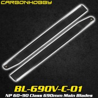 CarbonHobby (BL-690V-C-01) NP 60~90 Class 690mm Main Blades