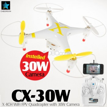 CHEERSON (CO-CX-30W-Y) X 6 Axis Gyro 4CH WiFi FPV Quadcopter with 30W Camera RTF (Yellow, Mode 2) - 2.4GHz