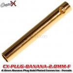 CopterX (CX-PLUG-BANANA-2.0MM-F) 2.0mm Banana Plug Gold Plated Connector - Female