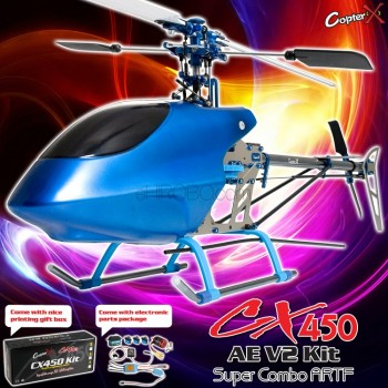 CopterX CX 450AE V2 Super Combo ARTFCopterX Helicopters