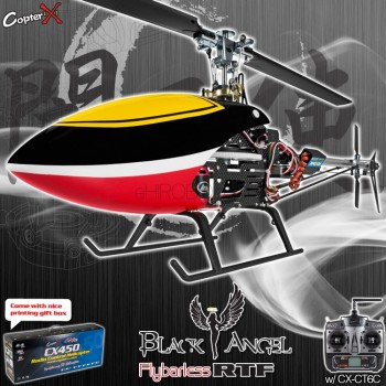 CopterX CX 450 Black Angel Flybarless 2.4GHz RTF (Cartoned)CopterX Helicopters
