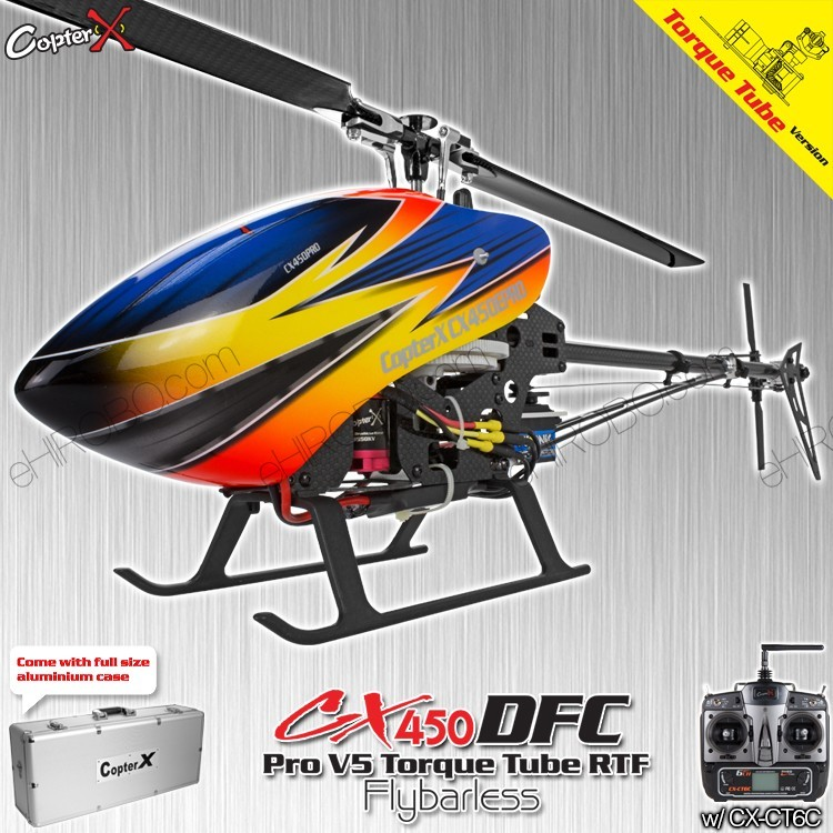 CopterX CX 450PRO V5 DFC Flybarless Torque Tube Version 2.4GHz ... on