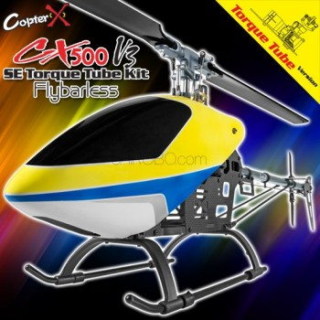 CopterX CX 500SE V3 Flybarless Torque Tube Version KitHelicotpers