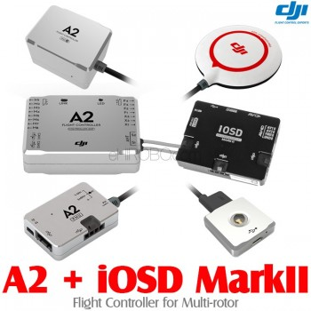 DJI (DJI-A2-IOSD-MARKII) A2 Flight Controller for Multi-rotor with iOSD Mark II FPV Autopilot On Screen Display System