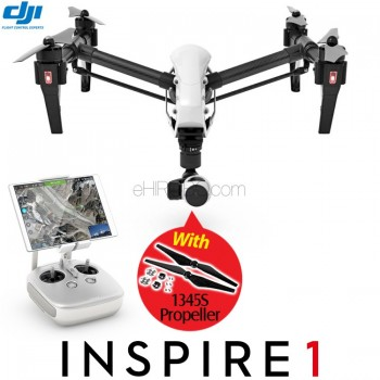 DJI Inspire 1 4K Camera GPS Quadcopter with Single Remote Controller and 1345S Propeller RTF - 2.4GHz