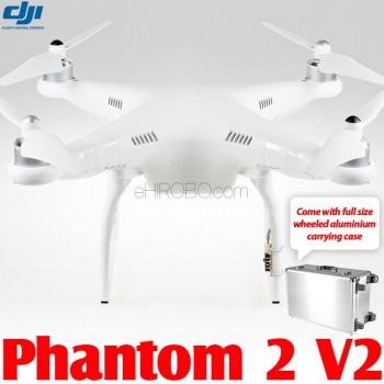 DJI Phantom 2 V2 GPS Drone RTF with Wheeled Aluminium Carrying Case - 2.4GHz
