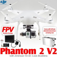 DJI Phantom 2 V2 2.4G with Zenmuse H3-3D, FPV Solution Package and Wheeled Aluminium Carrying Case
