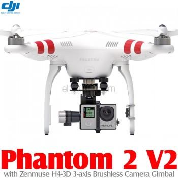 DJI Phantom 2 V2 GPS Drone RTF with Zenmuse H4-3D 3-axis Brushless Camera Gimbal - 2.4GHz