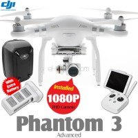 DJI Phantom 3 Advanced + Extra Battery + Part 50 Hardshell Backpack Combo (Phantom logo)