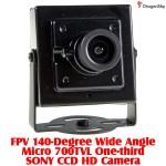 DragonSky (DS-FPV-CAM-700TVL-2) FPV 140-Degree Wide Angle Micro 700TVL One-third SONY CCD HD Camera