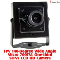 DragonSky (DS-FPV-CAM-700TVL-2) FPV 140-Degree Wide Angle Micro 700TVL One-third SONY CCD HD Camera