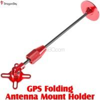 DragonSky (DS-GPS-HOLDER-R) GPS Folding Antenna Mount Holder (Red)