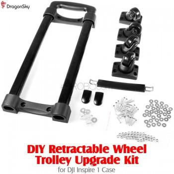DragonSky (DS-INSPIRE1-TROLLEY) DIY Retractable Wheel Trolley Upgrade Kit for DJI Inspire 1 Case