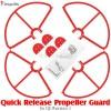DragonSky (DS-P3-PG-QR-R) Quick Release Propeller Guard for DJI Phantom 3 (Red)