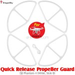 DragonSky (DS-P4-PG-QR-W-B) Quick Release Propeller Guard for DJI Phantom 4 (White, Style B)