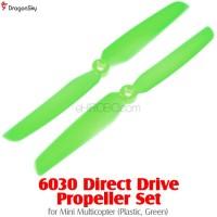 DragonSky 6030 Direct Drive Propeller Set for Mini Multicopter (Plastic, Green)