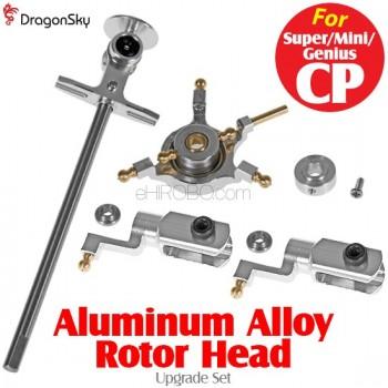 DragonSky (DS-SUPER-CP-RH-S) Super CP / Mini CP / Genius CP Aluminum Alloy Rotor Head Upgrade Set (Silver)Walkera Super CP Parts
