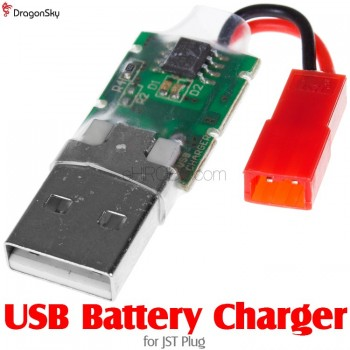 DragonSky (DS-USB-JST) USB Battery Charger for JST Plug