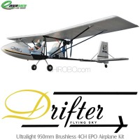 EasySky (ES9908-KIT) Drifter Ultralight 950mm Brushless 4CH EPO Airplane Kit