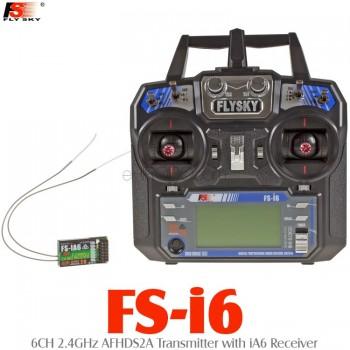 FLYSKY (FS-I6-IA6) 6CH 2 4GHz AFHDS2A Transmitter with iA6 Receiver