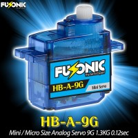 Fusonic (HB-A-9G) Mini / Micro Size Analog Servo 9G 1.3KG 0.12sec