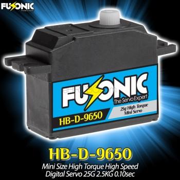 Fusonic (HB-D-9650) Mini Size High Torque High Speed Digital Servo 25G 2.5KG 0.10sec