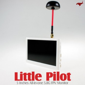 HAWK-EYE Aerial Video Technology (HEAVT-LITTLE-PILOT) Little Pilot 5 Inches All-in-one 5.8G FPV Monitor