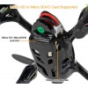 Hubsan (HS-H107C-BG-M2-CASE) X4 LED Version 6 Axis Gyro 4CH Mini Quadcopter with Video Camera Value Pack RTF (Black Green, Mode2) - 2.4GHz