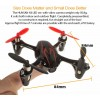 Hubsan (HS-H107C-BR-M1) X4 LED Version 6 Axis Gyro 4CH Mini Quadcopter with Video Camera and Rotor Blades Protection Cover RTF (Black Red, Mode1) - 2.4GHz