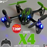 Hubsan H107C X4 720P HD Camera Quadcopter (Black Green, Mode1)