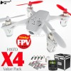 Hubsan (HS-H107D-W-M1-VP) X4 5.8GHz FPV 6 Axis Gyro 4CH Mini Quadcopter with 4.3 Inches LCD Transmitter and Rotor Blades Protection Cover Value Pack RTF (White, Mode1) - 2.4GHz