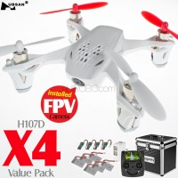 Hubsan H107D X4 FPV Quadcopter Value Pack (White, Mode1)
