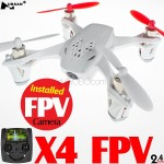 Hubsan (HS-H107D-W-M2) X4 5.8GHz FPV 6 Axis Gyro 4CH Mini Quadcopter with 4.3 Inches LCD Transmitter and Rotor Blades Protection Cover RTF (White, Mode2) - 2.4GHz