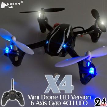 Hubsan (HS-H107L-M1) X4 LED Version 6 Axis Gyro 4CH Mini Quadcopter RTF (Mode1) - 2.4GHz