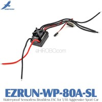 Hobbywing EZRUN-WP-80A-SL Water-proof Sensorless Brushless ESC for 1/10 Aggressive Sport Car