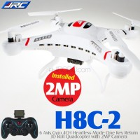 JJRC H8C Headless Quadcopter with 2MP Camera (White, Mode 2)