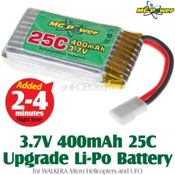 MG Power (MG-37-25-400) 3.7V 400mAh 25C Upgrade Li-Polymer Battery for WALKERA Micro Helicopters and UFOWalkera Super CP Parts
