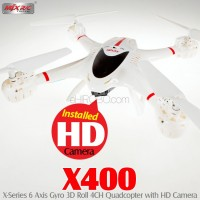 MJX RC X400 4CH Quadcopter with HD Camera (White)