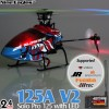 Nine Eagles (NE-R/C-125A-SOLO-PRO-V2-B-GL) SOLO PRO 125 V2 LED Version 6CH Flybarless Micro Helicopter with General Link ARTF (Blue) - 2.4GHzNine Eagles Helicopters