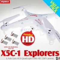 SYMA X5C-1 Explorers Quadcopter with HD 720P Camera Value Pack (Mode 2)
