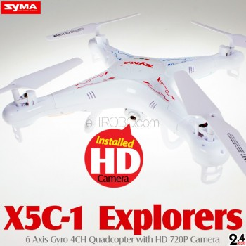 SYMA (SM-X5C-1-M2) Explorers 6 Axis Gyro 4CH Quadcopter with HD 720P Camera RTF (Mode 2) - 2.4GHz