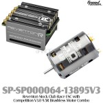 Speed Passion (SP-SP000064-13895V3) Reventon-R 70A ESC (Silver) with Competition V3.0 9.5R Brushless Motor Combo