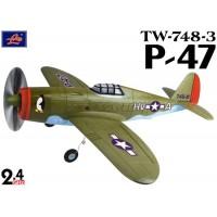 Lanyu (TW-748-3-A) 4CH P-47 EPO ARTF Aeroplane (Green) - 2.4GHz
