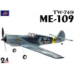Lanyu (TW-749-A) 4CH Me 109 Mustang EPO ARTF Aeroplane (Blue Camouflage) - 2.4GHz