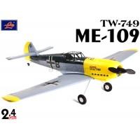 Lanyu (TW-749-B) 4CH Me 109 Mustang EPO ARTF Aeroplane (Yellow & Silver) - 2.4GHz