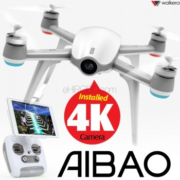 WALKERA (WALKERA-AIBAO-W) Aibao FPV AR Gaming GPS Brushless Quadcopter with 4K Camera and DEVO F8E Transmitter RTF (White) - 2.4GHz