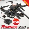WALKERA (WALKERA-RUNNER-250-RTF-BASIC4) Runner 250 FPV Racing Quadcopter with 800TVL Camera, OSD, DEVO 7, Battery, Charger and Little Pilot 5-inch Monitor RTF - 2.4GHz