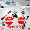 WALKERA (WALKERA-SCOUT-X4-W-FPV3) Scout X4 FPV3 Version FPV GPS Brushless Quadcopter with DEVO F12E Transmitter, GoPro, Gimbal and Ground Station RTF (White) - 2.4GHz